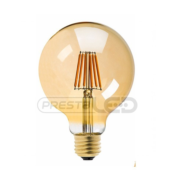 ampoule led e27 g125 globe filament cob 8w gold blanc chaud vintage. Black Bedroom Furniture Sets. Home Design Ideas