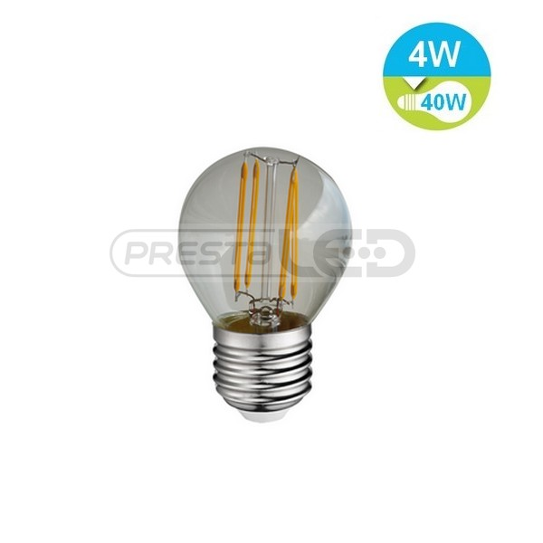 ampoule led e27 g45 globe filament cob 4w blanc neutre vintage. Black Bedroom Furniture Sets. Home Design Ideas