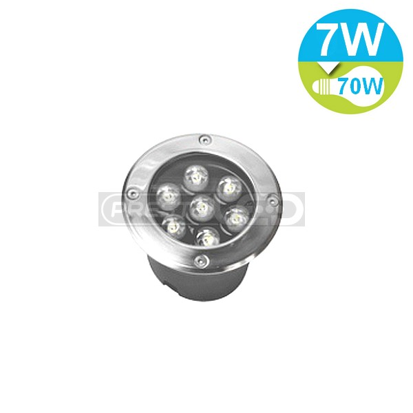 Spot encastrable led exterieur de sol etanche ip67 7w for Spot led interieur encastrable