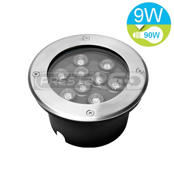 Spot encastrable led exterieur de sol etanche ip67 9w for Spot exterieur led encastrable