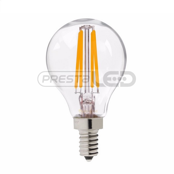 ampoule led e14 p45 globe filament cob 4w blanc chaud vintage. Black Bedroom Furniture Sets. Home Design Ideas