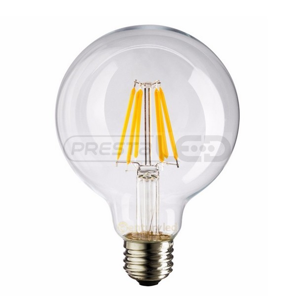 ampoule led e27 g125 globe filament cob 8w blanc froid vintage. Black Bedroom Furniture Sets. Home Design Ideas
