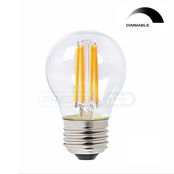 ampoule led e27 g45 globe filament cob 4w blanc chaud vintage dimmable pour variateur. Black Bedroom Furniture Sets. Home Design Ideas