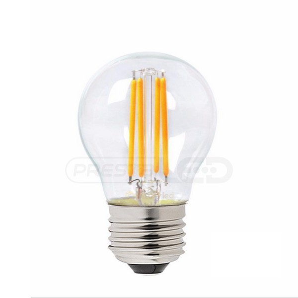 ampoule led e27 g45 globe filament cob 4w blanc chaud vintage. Black Bedroom Furniture Sets. Home Design Ideas