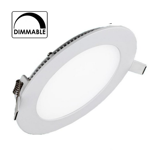 spot encastrable downlight led 9w blanc neutre extra plat dimmable pour variateur. Black Bedroom Furniture Sets. Home Design Ideas