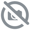 LUSTRE SUSPENSION METAL BLANC ET ACRYLIQUE DOUBLE 72W BLANC CHAUD